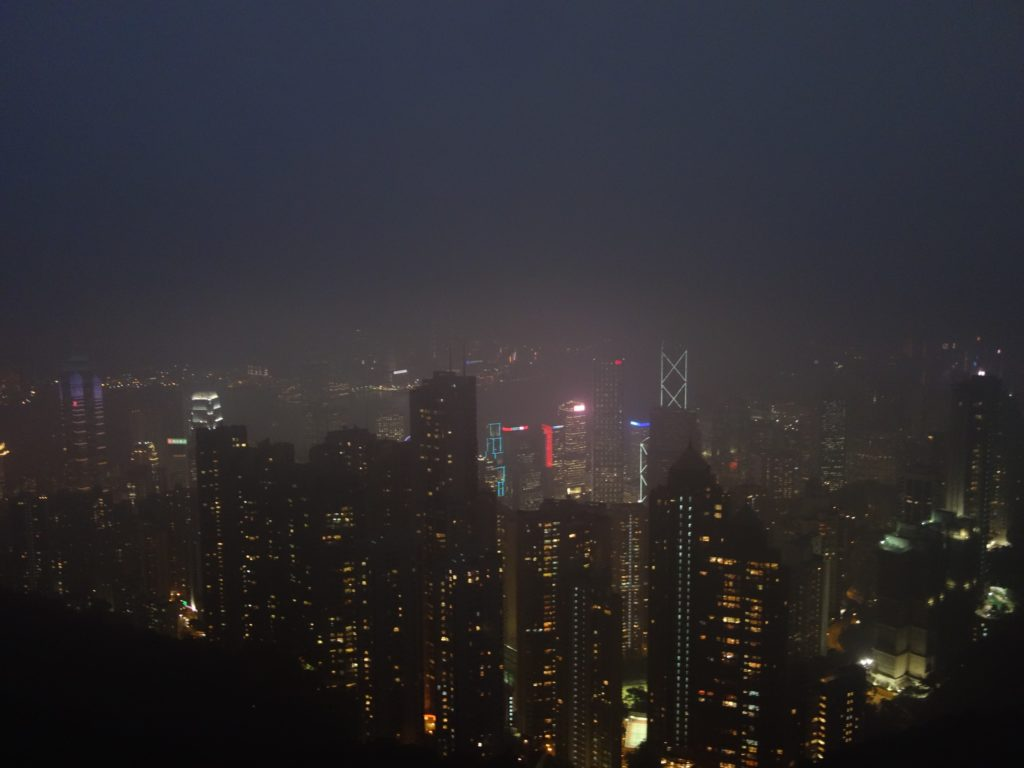 View at night, from the peak!