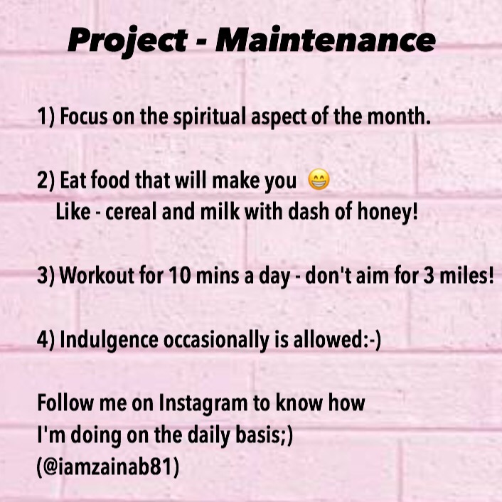 Project – Maintenance & A Giveaway
