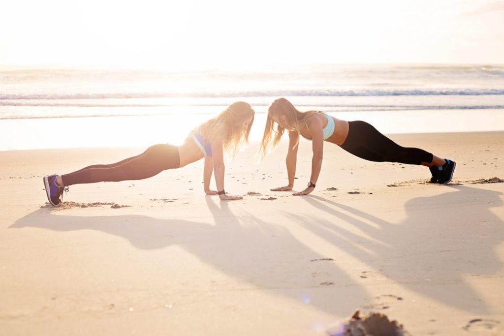 Girls Planking